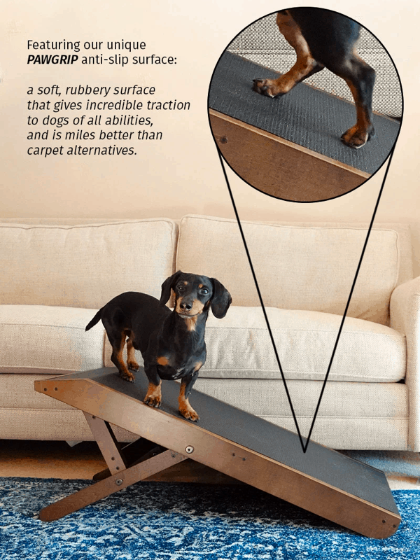 high-traction surface in doggoramps